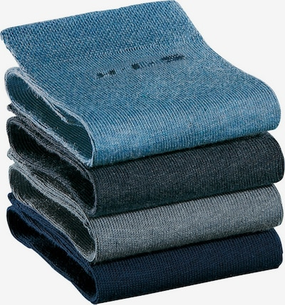 HIS JEANS Socken in blau / grau, Produktansicht