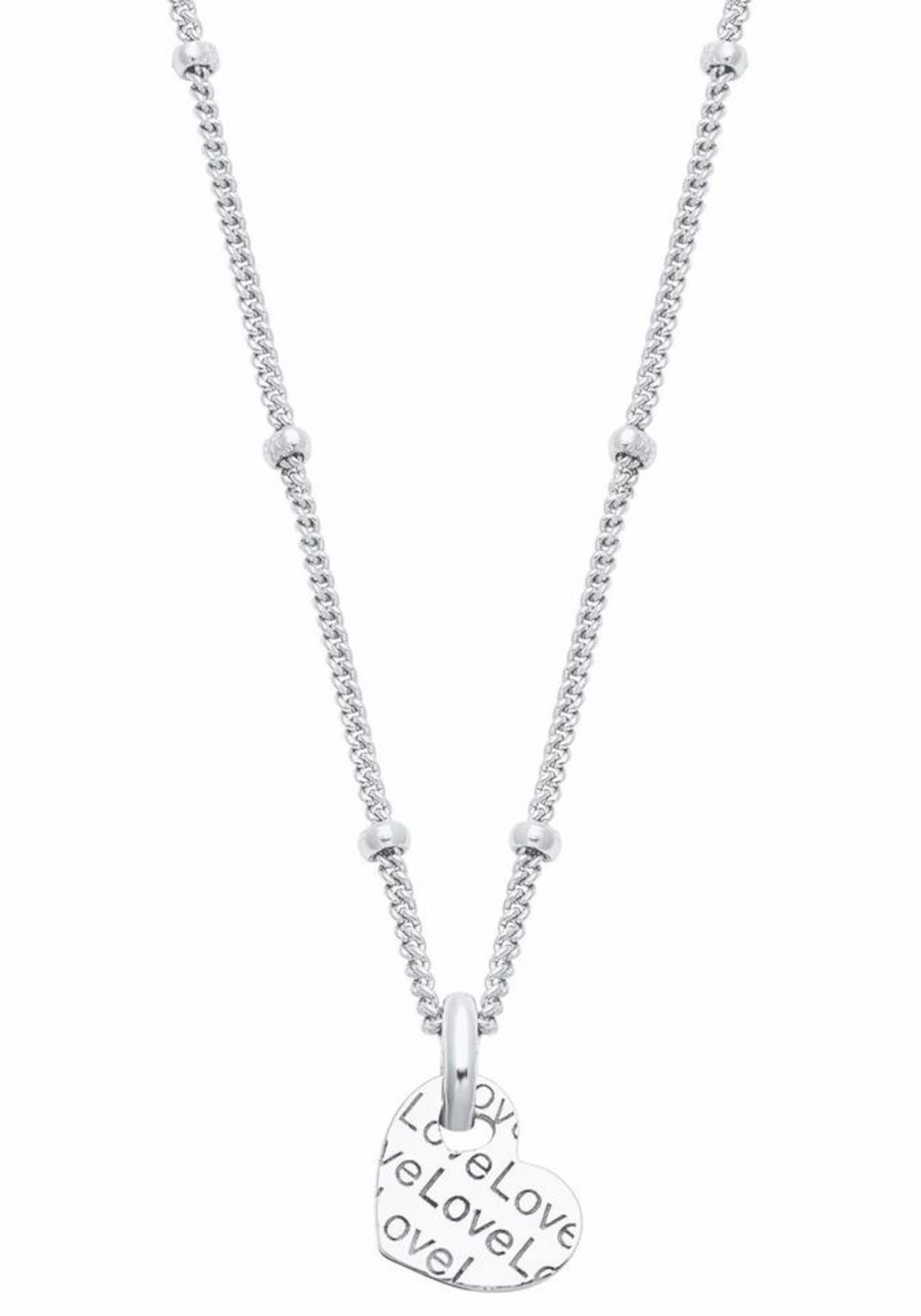 Silber Kette 'herz S love2024319' oliver In fy76Ygvb