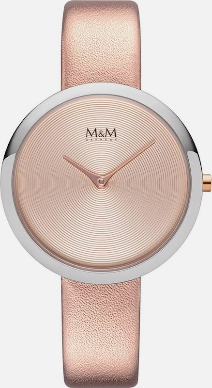 M&M GERMANY Quarzuhr 'Circle Line' in rosegold / silber: Frontalansicht