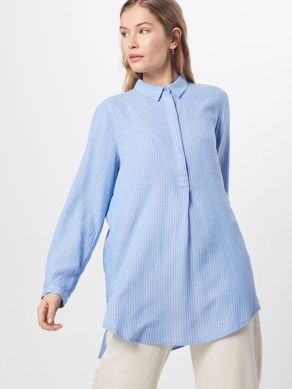 TOM TAILOR Bluse in blau / weiß, Modelansicht