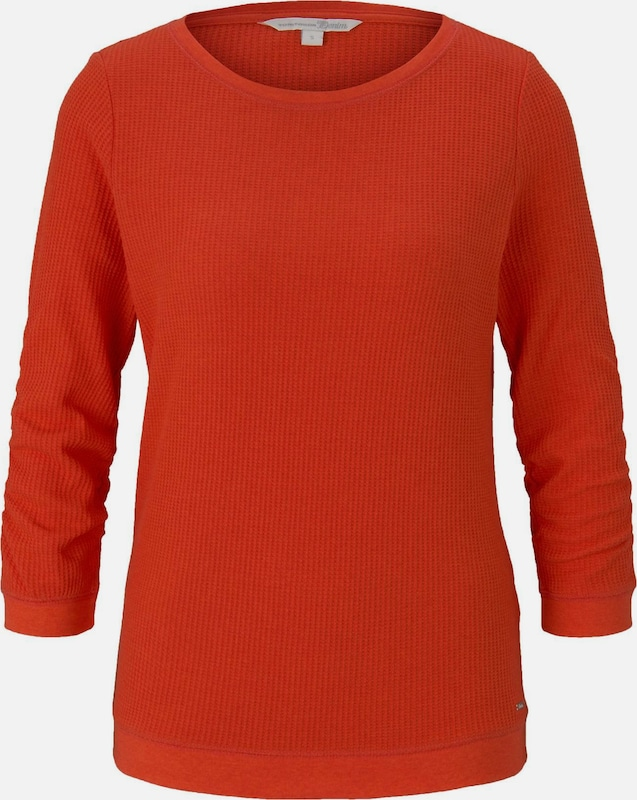 TOM TAILOR DENIM Sweatshirt in rot, Produktansicht