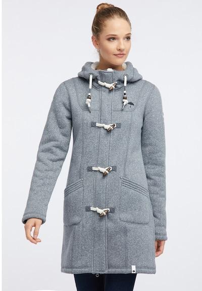 Schmuddelwedda Manteau d'hiver en marron chiné / gris / blanc, Vue avec modèle