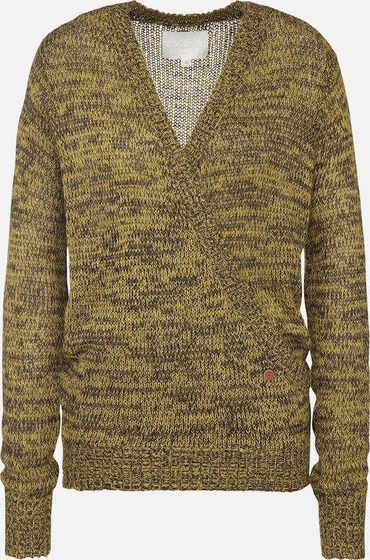 Khujo Pullover 'AMELIA' in gelb   schwarz  Neu in diesem Quartal