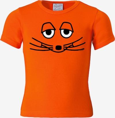 LOGOSHIRT T-Shirt in orange / schwarz / weiß, Produktansicht