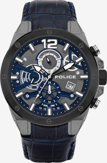 POLICE Quarzuhr 'Saiho PL15711JSUB.03' in dunkelblau / anthrazit / naturweiß, Produktansicht