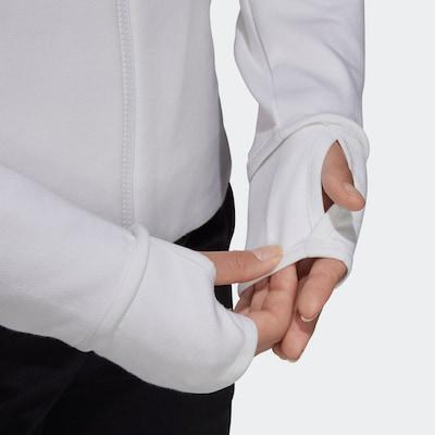 ADIDAS PERFORMANCE Sweatjacke in weiß: Frontalansicht