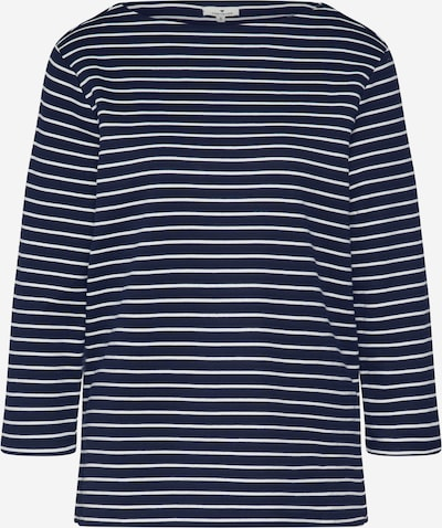 TOM TAILOR Sweatshirt in navy / weiß, Produktansicht