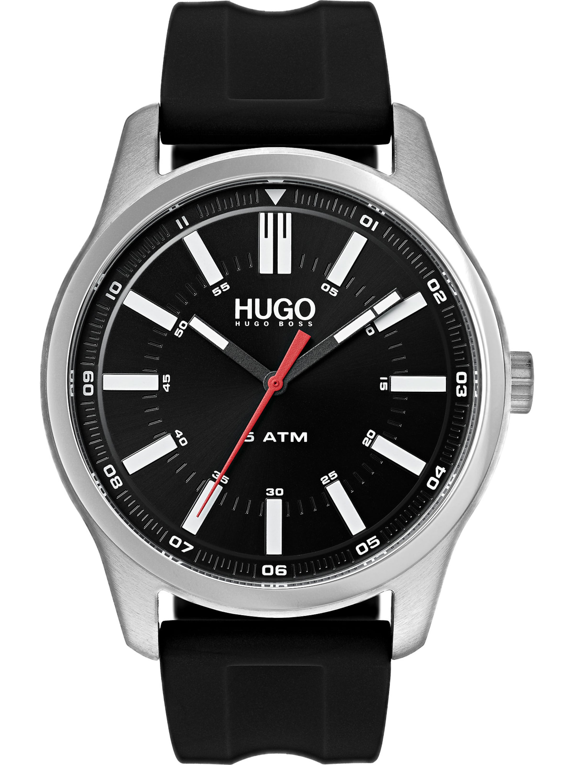 In SchwarzSilber Hugo In Hugo In Hugo Uhr Weiß Uhr Uhr Weiß SchwarzSilber H9D2YWIE