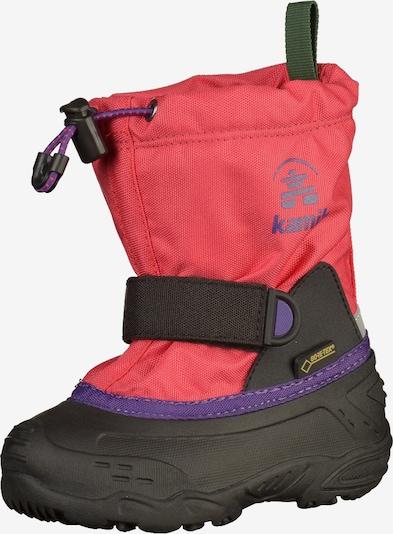 Kamik Boots en violet / rose foncé / noir, Vue avec produit