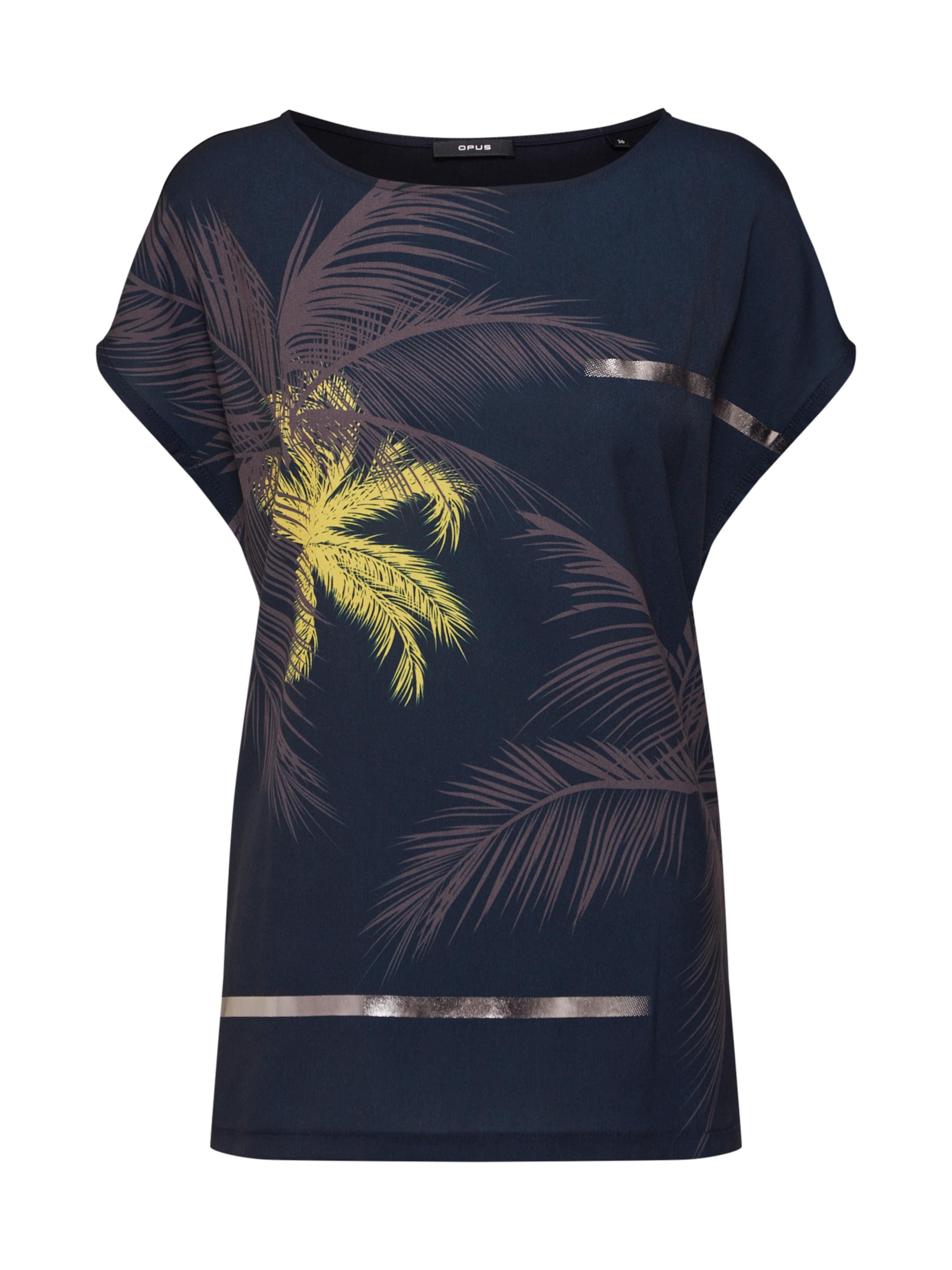 En shirt 'sino T Opus Bleu FoncéJaune Print' hBrxtsdQC