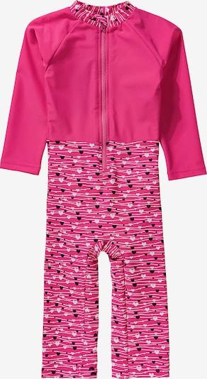 STERNTALER Schwimmanzug in pink / schwarz / weiß, Produktansicht