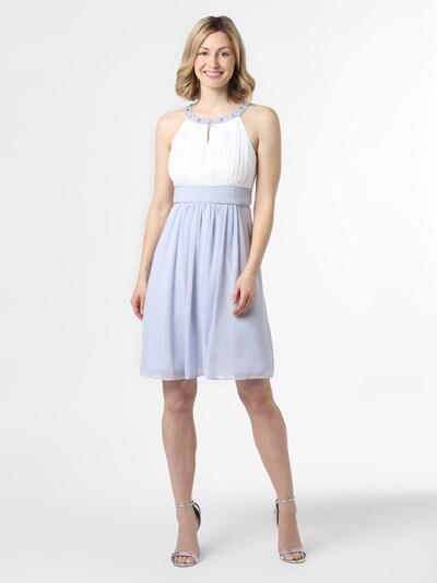 Marie Lund Abendkleid in blau / weiß, Modelansicht