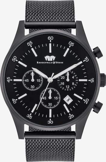 Rhodenwald & Söhne Armbanduhr 'Goodwill' in schwarz / weiß: Frontalansicht