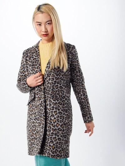 VILA Mantel in beige / braun / schwarz, Modelansicht