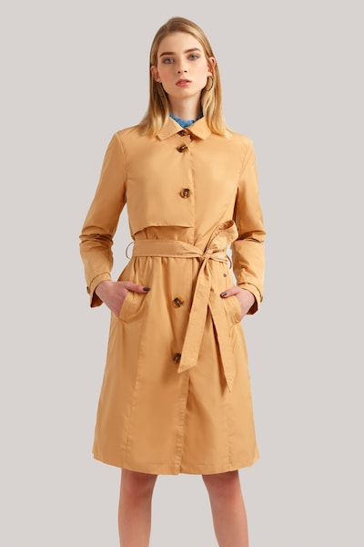 Finn Flare Trenchcoat in sand: Frontalansicht