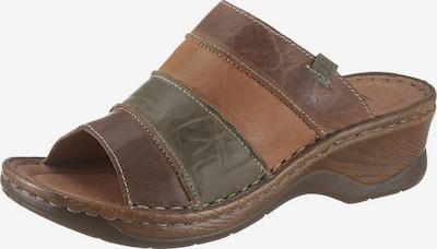 JOSEF SEIBEL Pantolette 'Catalonia' in braun / cognac / khaki, Produktansicht