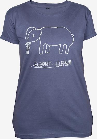 Kipepeo Clothing T-Shirt ' Shirt Elephant Charcoal ' in blau / violettblau / weiß, Produktansicht