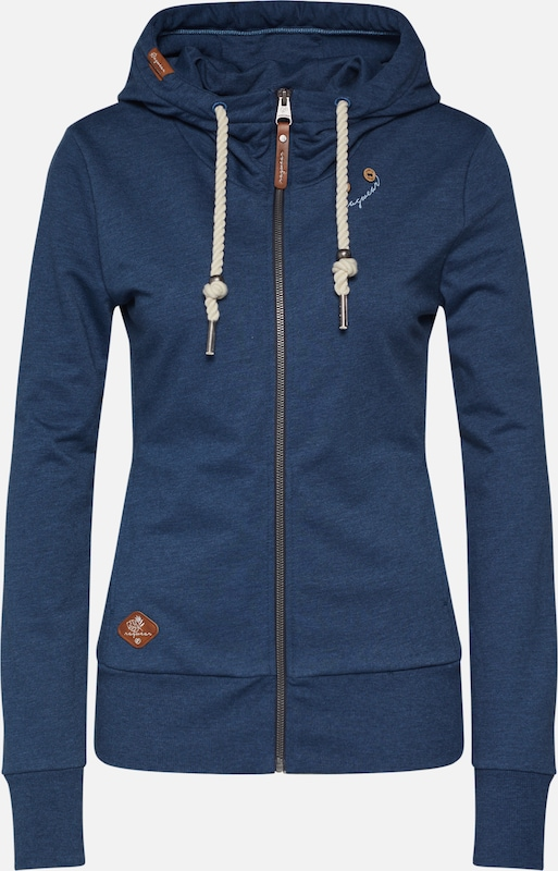 Ragwear Sweatjacke 'PAYA' in blue denim, Produktansicht