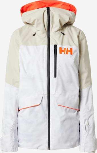 HELLY HANSEN Outdoorjas 'W POWCHASER LIFALOFT JACKET' in de kleur Beige / Sinaasappel / Wit, Productweergave