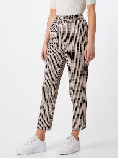 SECOND FEMALE Pantalon en beige / noir, Vue avec modèle