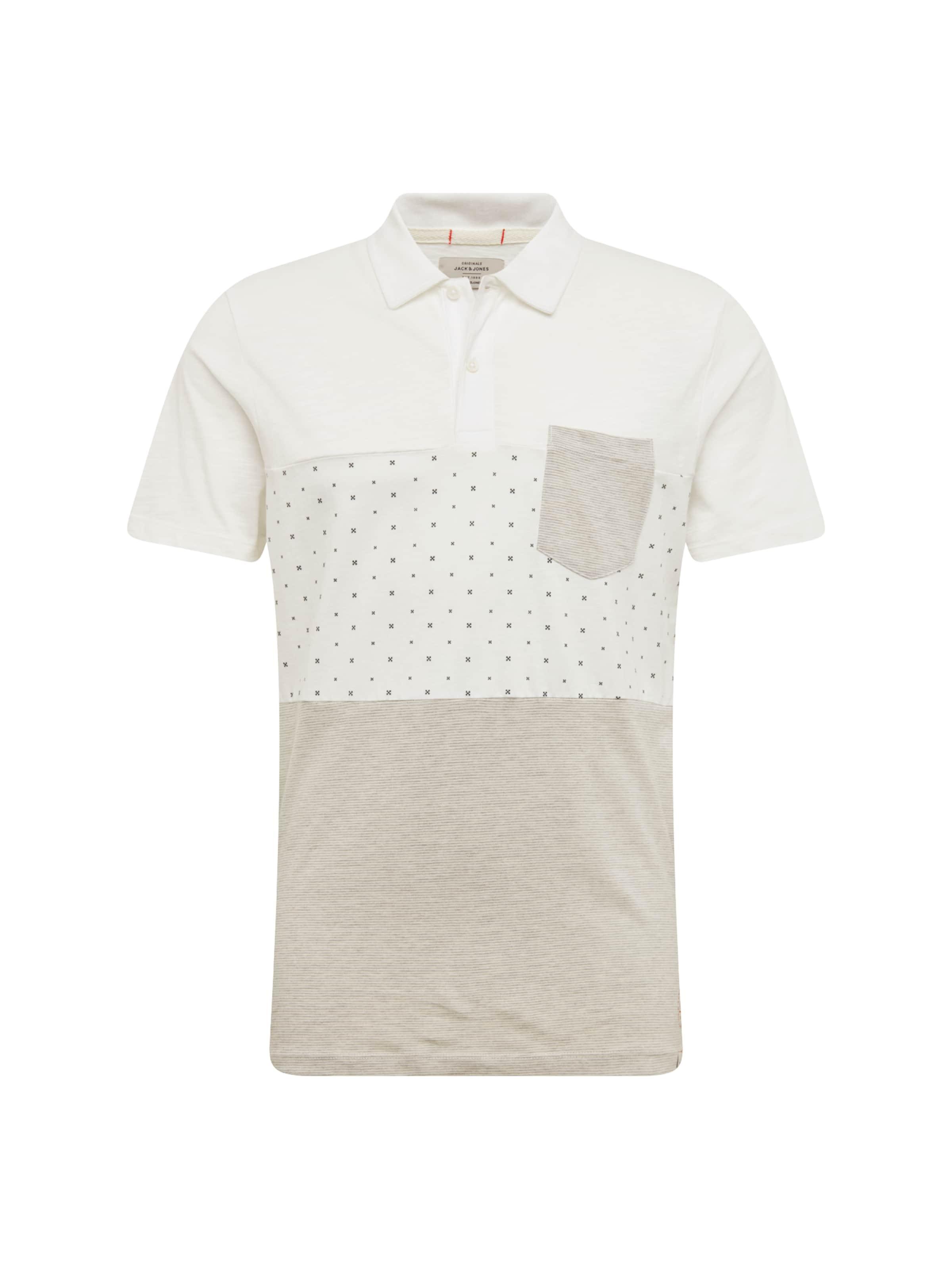 Shirt 'jortobi' HellgrauWeiß In Jones Jackamp; kXuOPZi