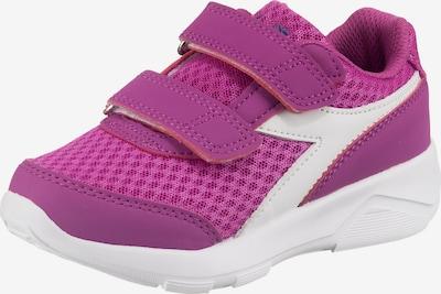 Diadora Sneaker mit Klettverschluss in lila / weiß, Produktansicht