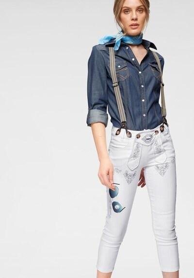 ARIZONA Trachtenjeans in weiß, Modelansicht
