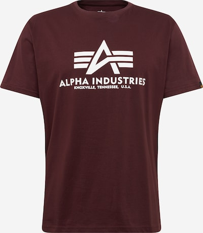 ALPHA INDUSTRIES Print-Shirt in weinrot, Produktansicht