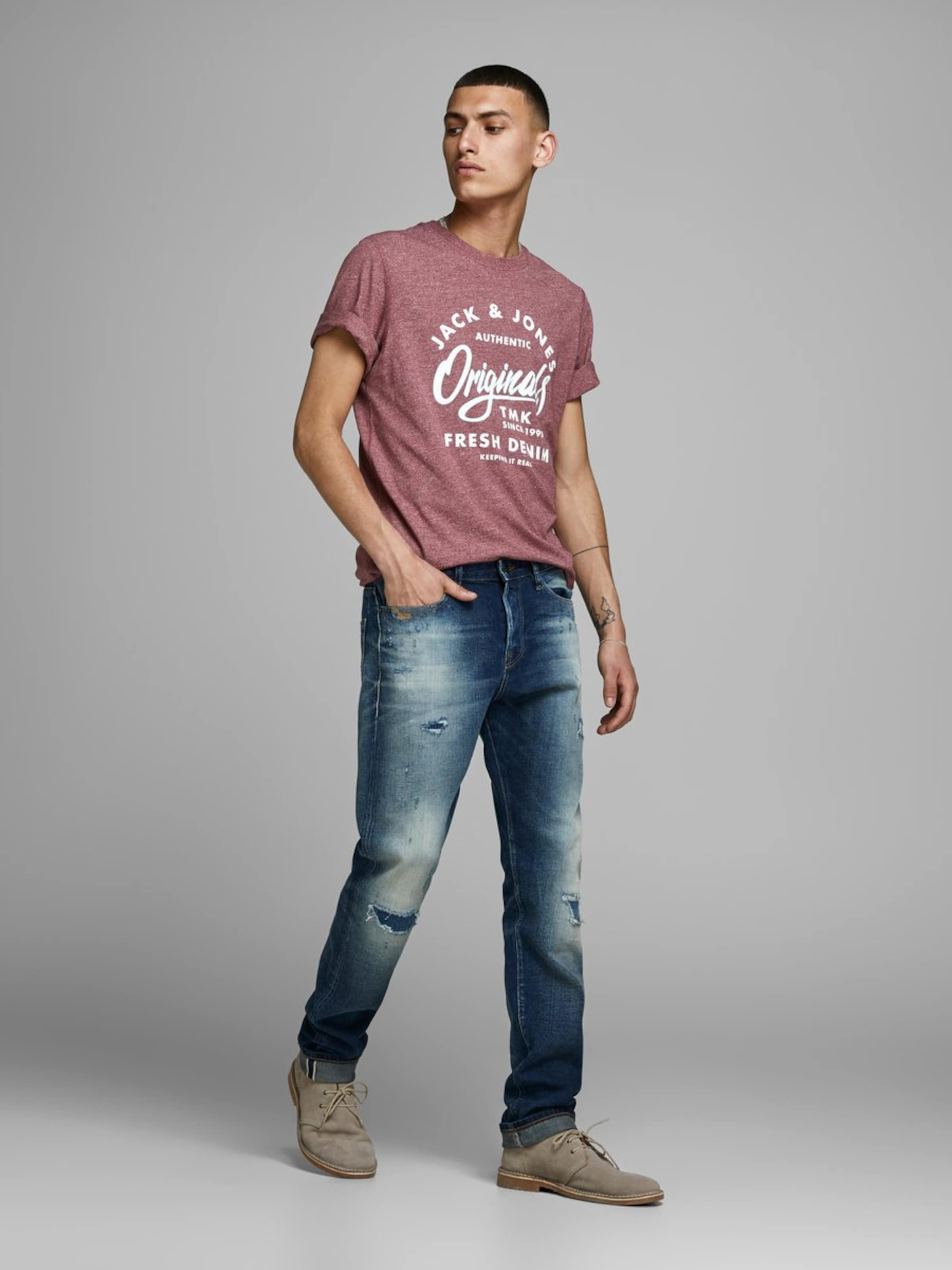 shirt KirschrotWeiß Jackamp; In Jones T dCxoeB