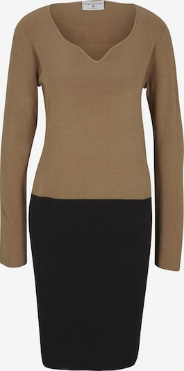 heine Gebreide jurk in de kleur Sand / Zwart, Productweergave