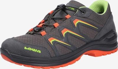 LOWA Lage schoen in de kleur Grafiet / Limoen / Neonoranje, Productweergave