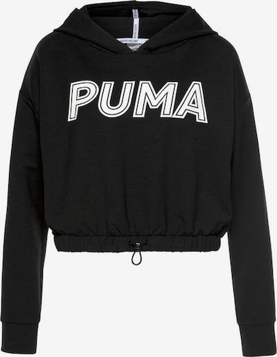 PUMA Sport-Sweatshirt in schwarz / weiß: Frontalansicht