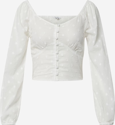 ONLY Blouse 'ONLESTHER L/S CROPPED TOP WVN' in de kleur Wit, Productweergave