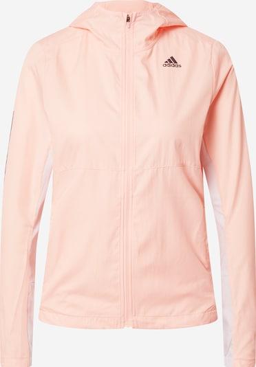ADIDAS PERFORMANCE Sportjacke 'Own the Run' in pastellpink / weiß, Produktansicht