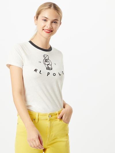 POLO RALPH LAUREN Shirt 'Bear' in de kleur Zwart / Offwhite: Vooraanzicht