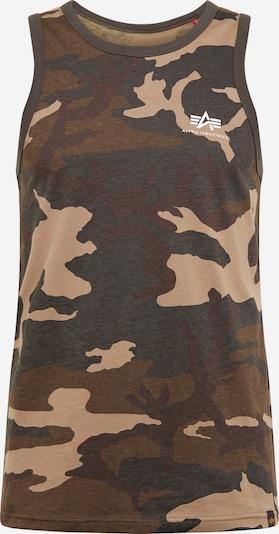 ALPHA INDUSTRIES T-Shirt en taupe, Vue avec produit