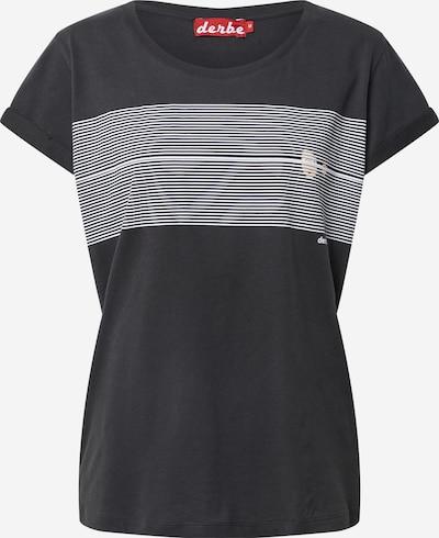 Tricou 'Hide' Derbe pe negru / alb, Vizualizare produs