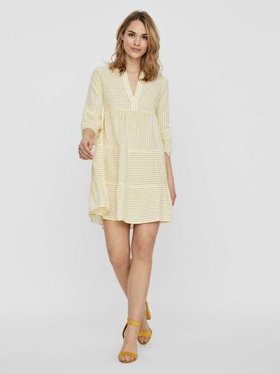 VERO MODA Kleid in gelb / weiß   ABOUT YOU