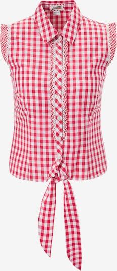 Andreas Gabalier Kollektion Trachtenbluse in rot / weiß, Produktansicht