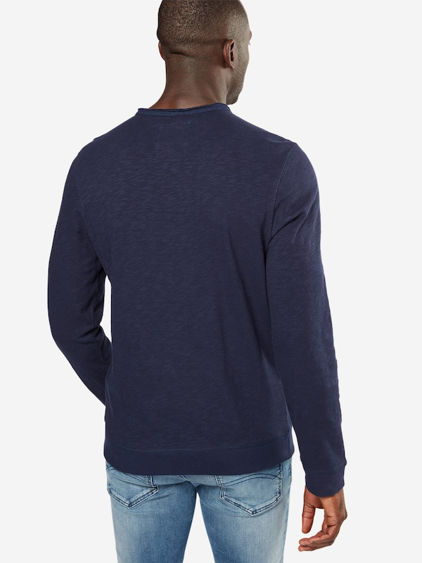 TOM TAILOR Sweater 'easy sweatshirt with placket'