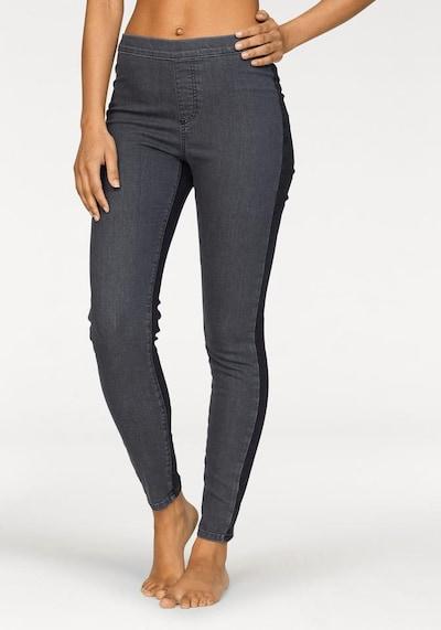 BUFFALO Hose in grey denim / black denim, Modelansicht