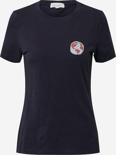 világoskék / sötétkék / narancsvörös ARMEDANGELS Póló 'LIDAA', Termék nézet