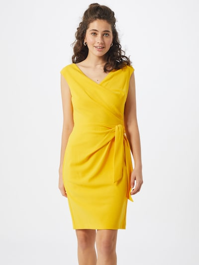 Lauren Ralph Lauren Kleid 'CLEONIE-CAP SLEEVE-COCKTAIL DRESS' in gelb, Modelansicht