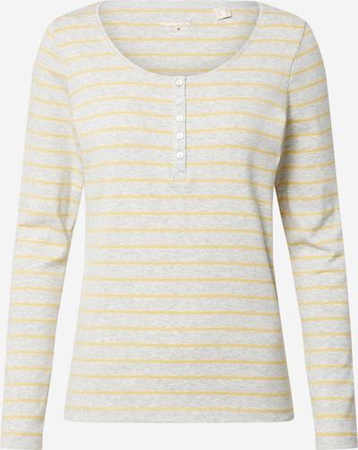 ESPRIT Shirt 'FLW' in gelb / hellgrau, Produktansicht