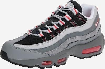 Nike Sportswear Zemie apavi 'Air Max 95 Essential' pieejami pelēks / sarkans / melns, Preces skats