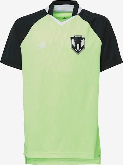 ADIDAS PERFORMANCE T-Shirt fonctionnel en kiwi / noir, Vue avec produit