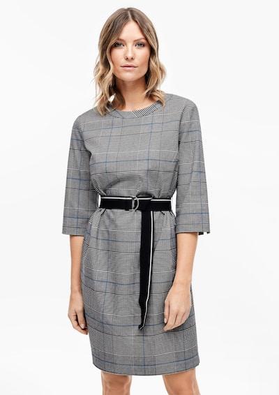 s.Oliver Kleid in blau / grau / schwarz / weiß, Modelansicht