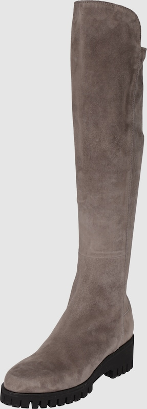 Donna Carolina Overlay Boots With Zipper-detail