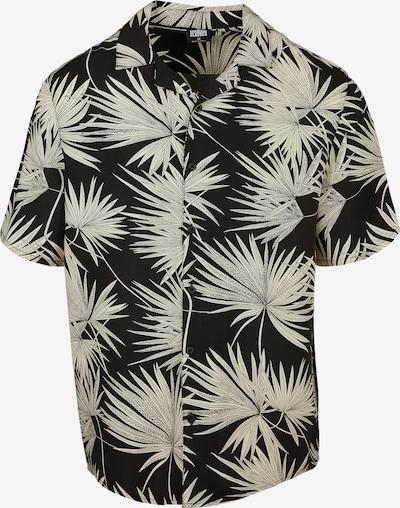 Urban Classics Hemd 'Frond Resort' in beige / schwarz, Produktansicht