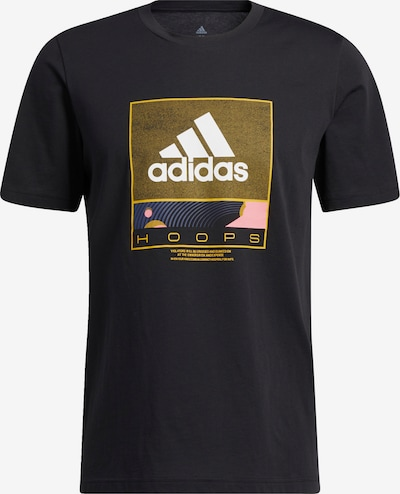 ADIDAS PERFORMANCE T-Shirt in gold / schwarz / weiß, Produktansicht